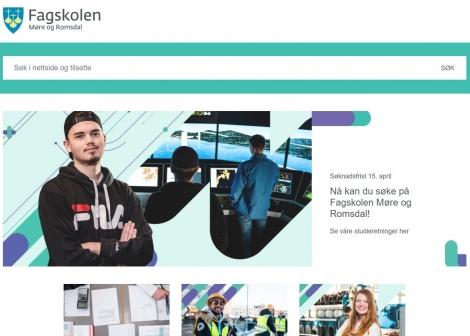 Ny nettside skjermdump av fagskolenmr.no